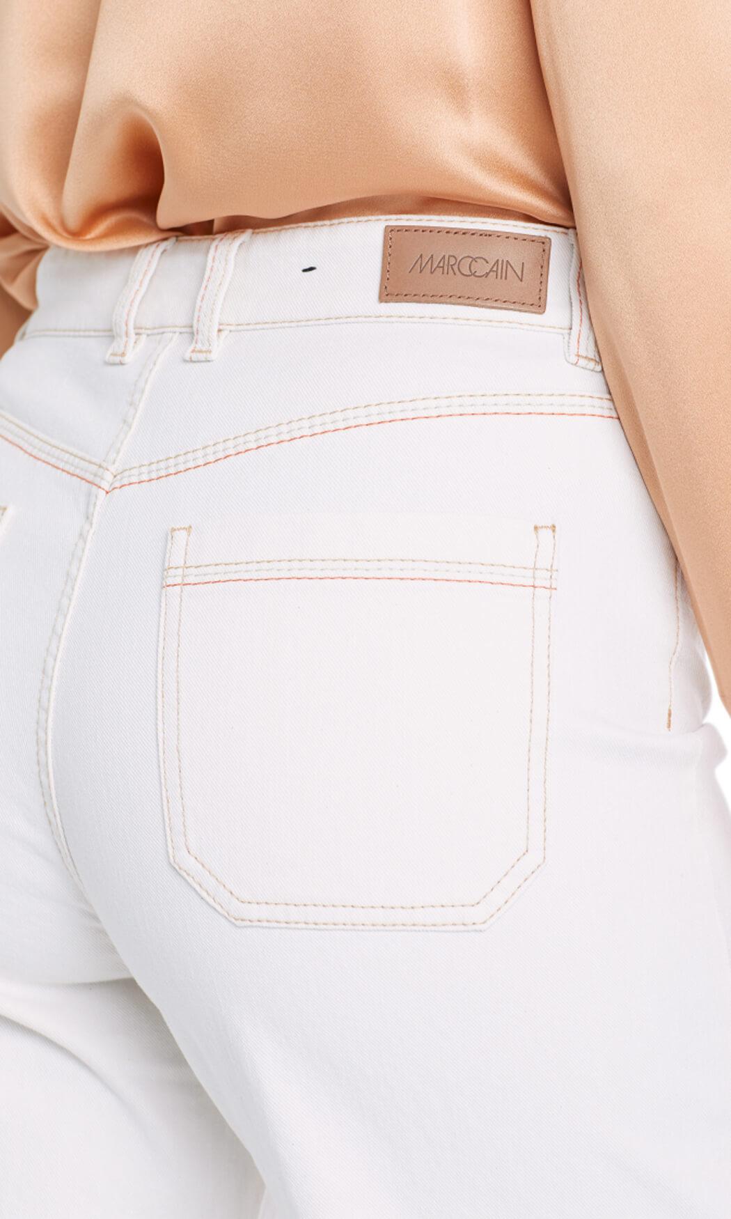Marccain Dames Wijde jeans Ecru