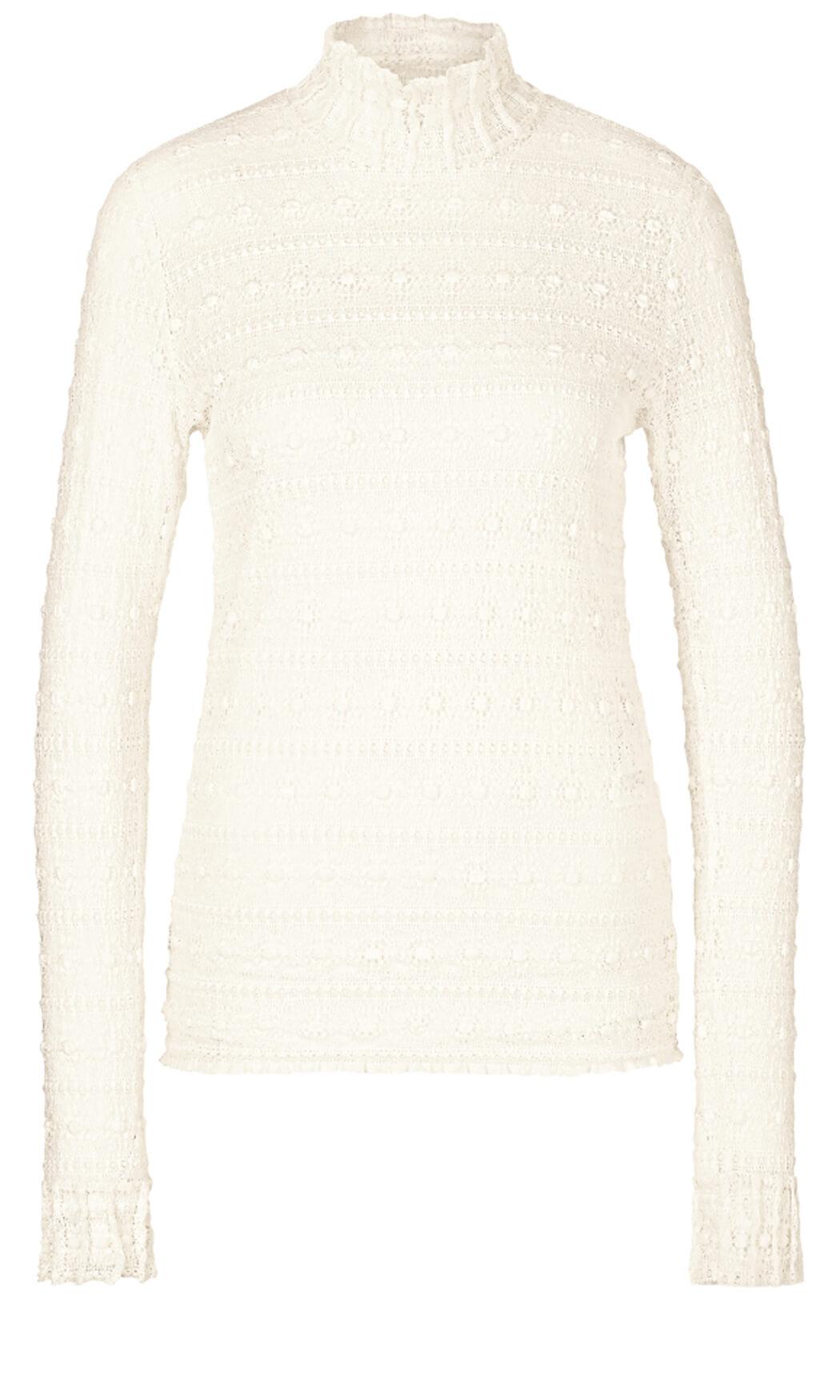 Marccain Dames Kanten blouse wit