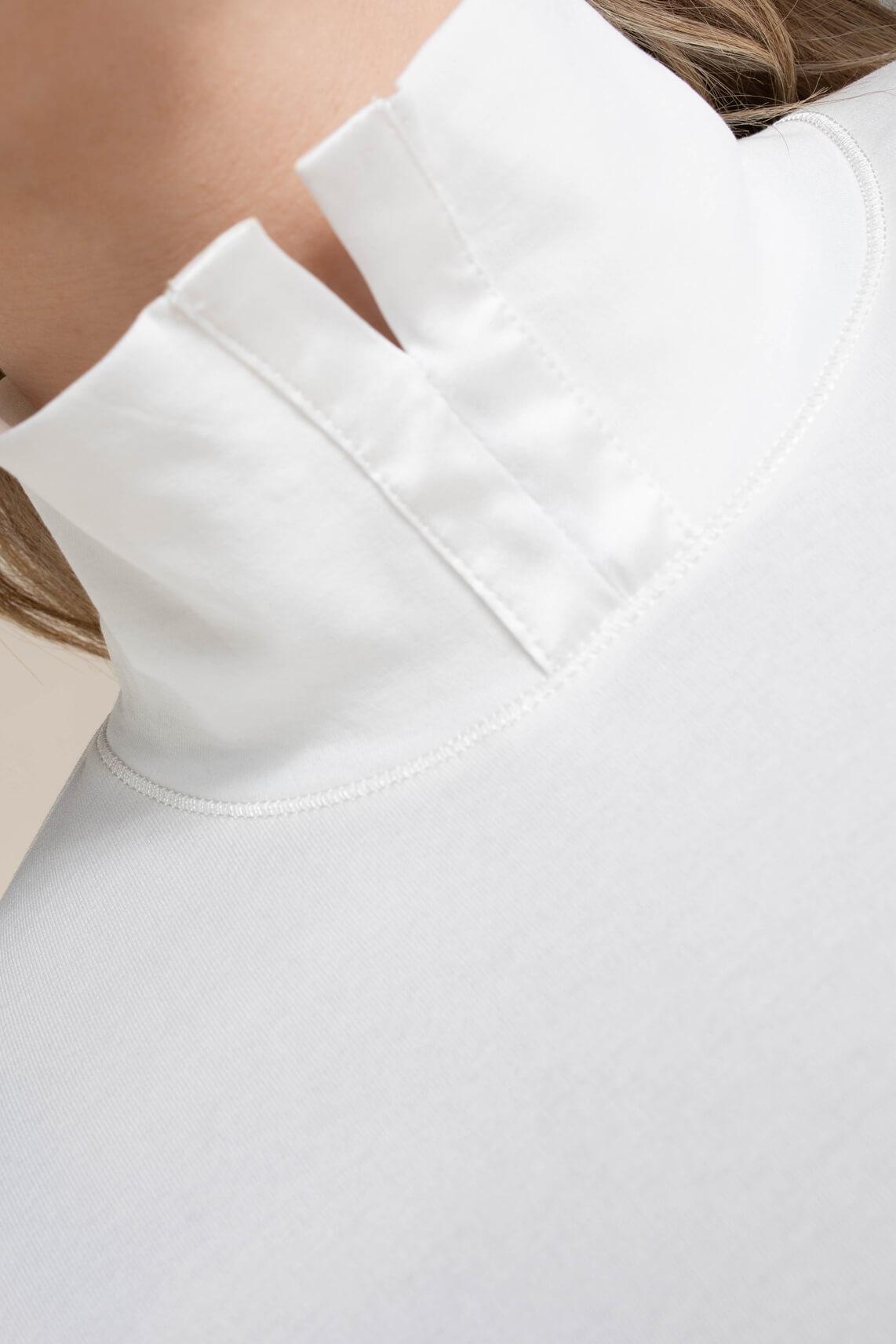 Marccain Dames Shirt met zijden details wit