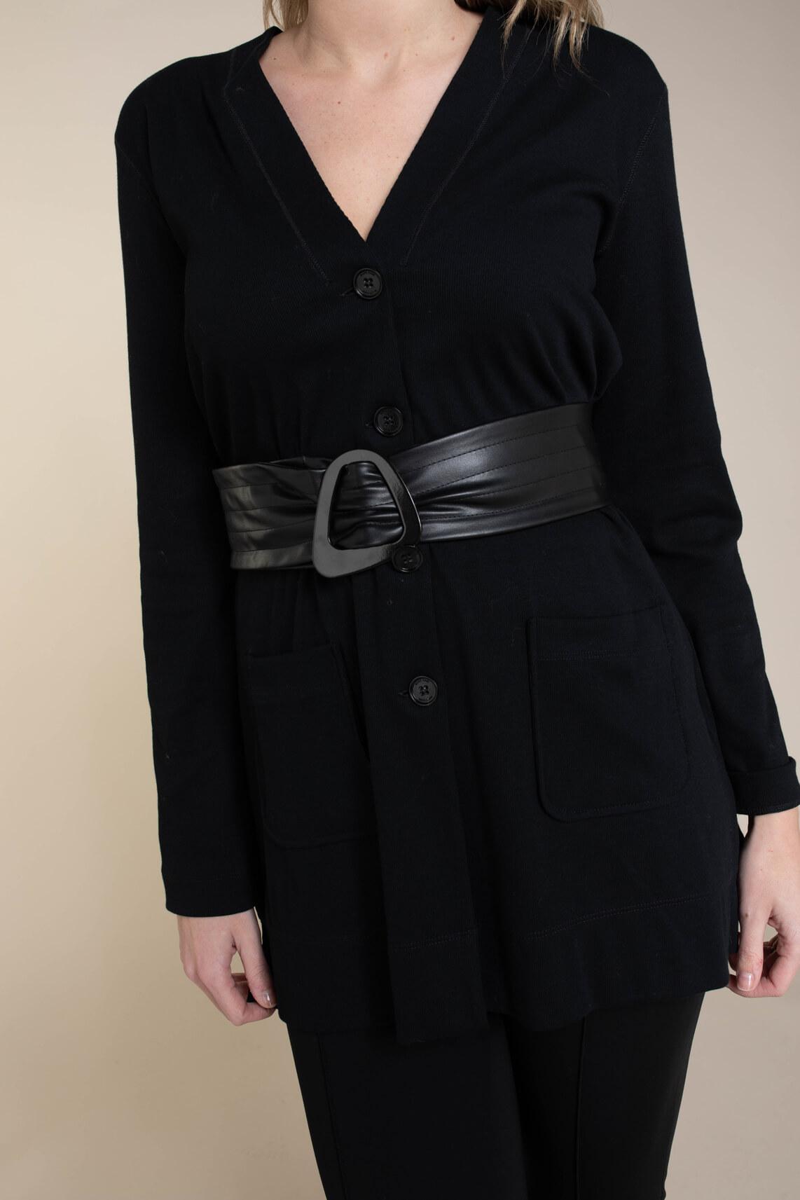 Marccain Sports Essentiels Dames Vest van katoen jersey zwart