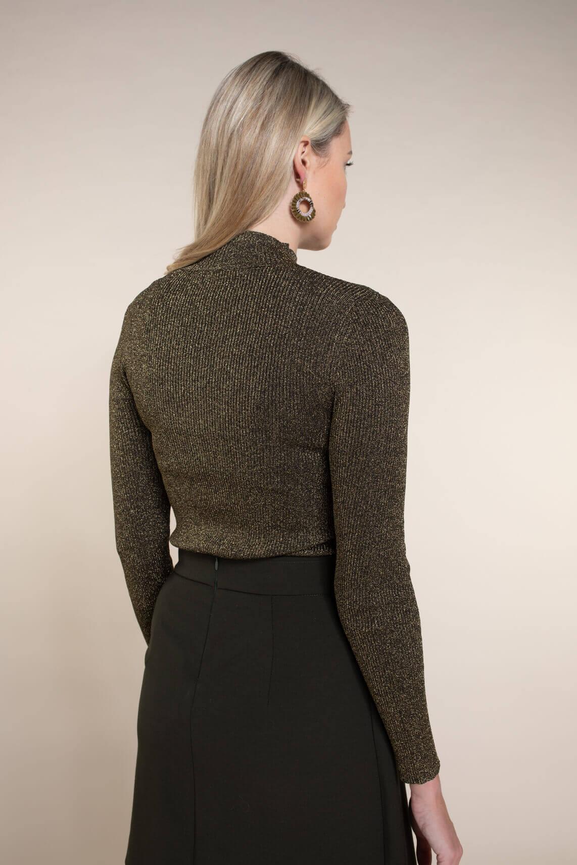 Kocca Dames Ostin lurex pullover groen