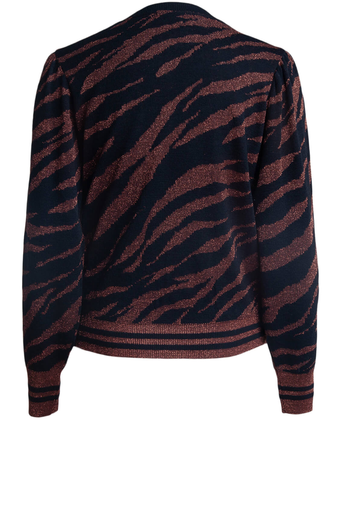Kocca Dames Masted lurex pull Bruin