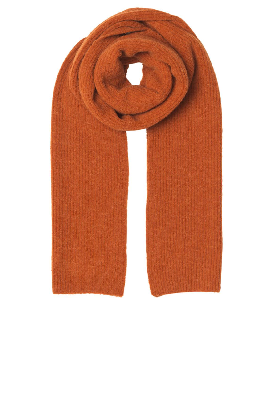 Notes du Nord Dames Wollen shawl Oranje