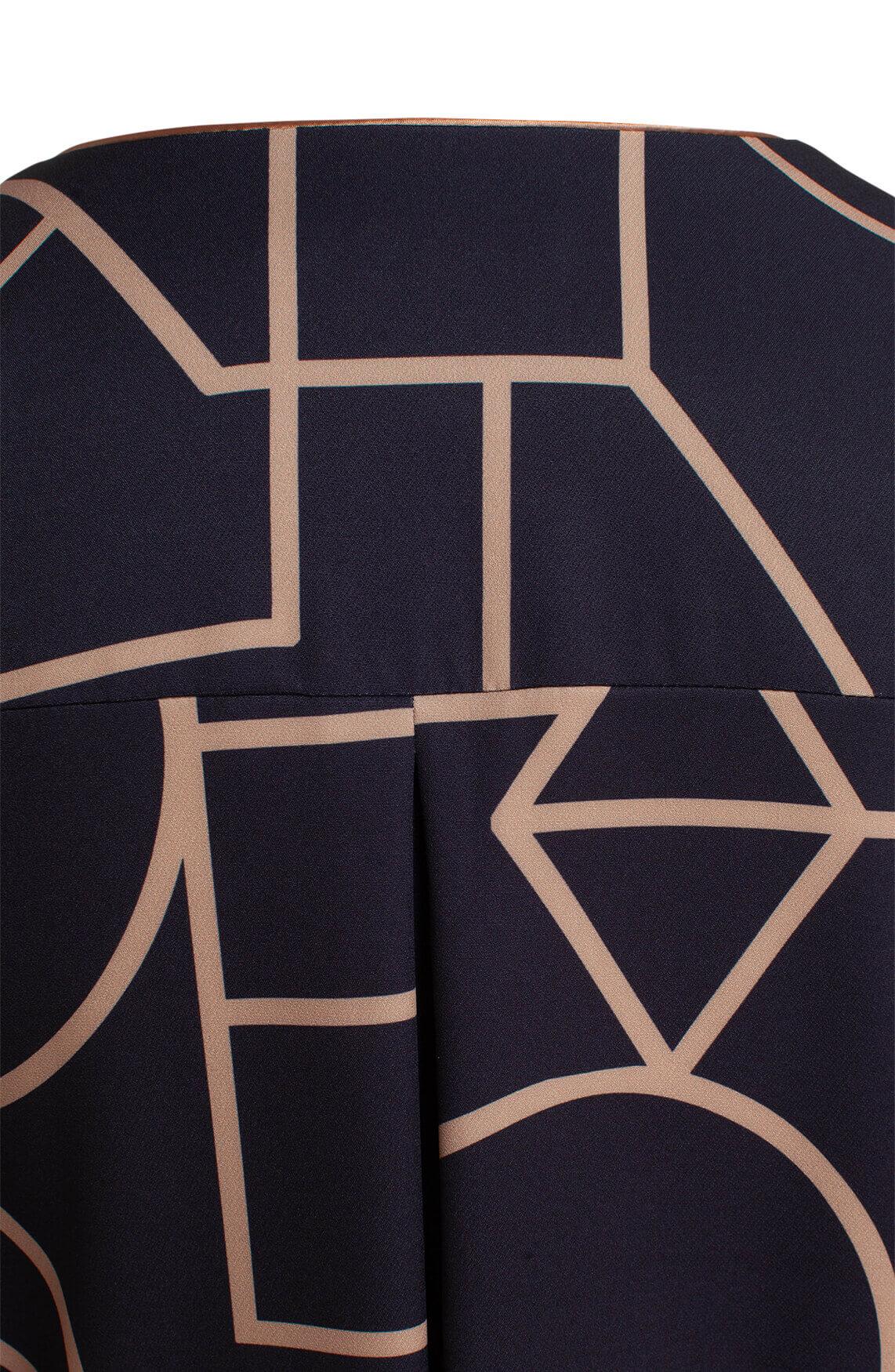 Ana Alcazar Dames Jurk met grafisch dessin zwart