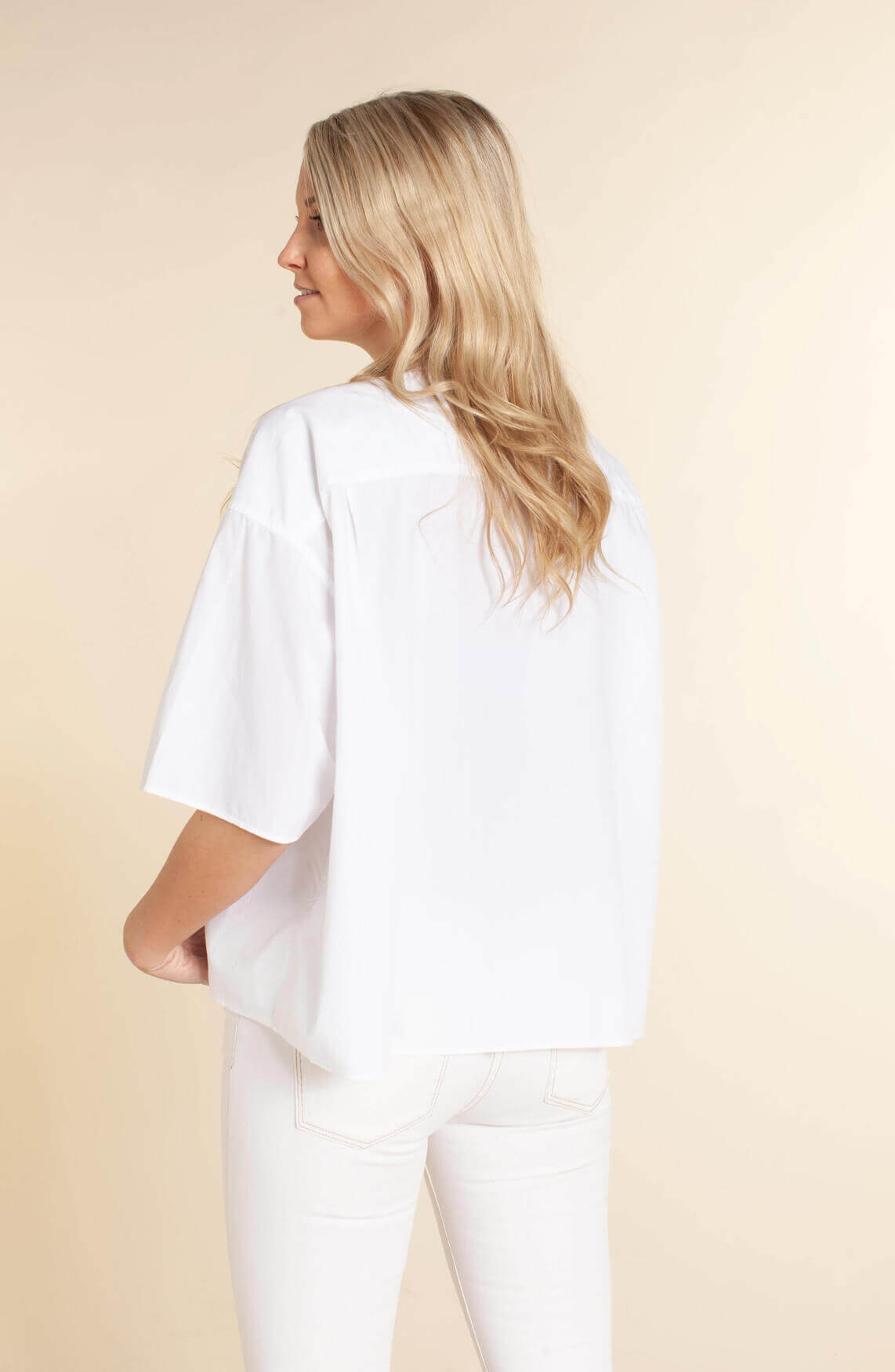 Closed Dames Boxy poplin blouse wit