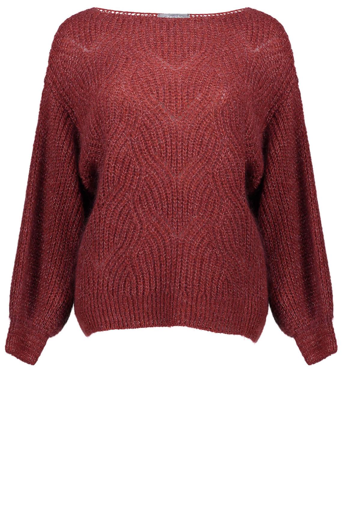 Geisha Dames Pullover met lurex Rood