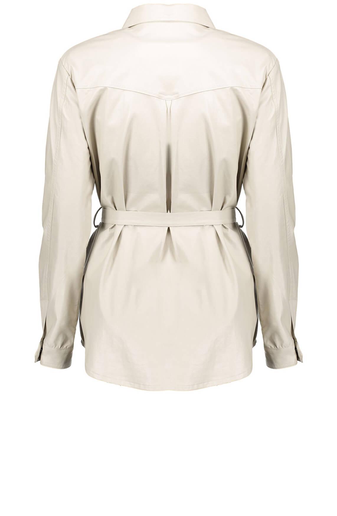 Geisha Dames Imitatieleren blouse Ecru