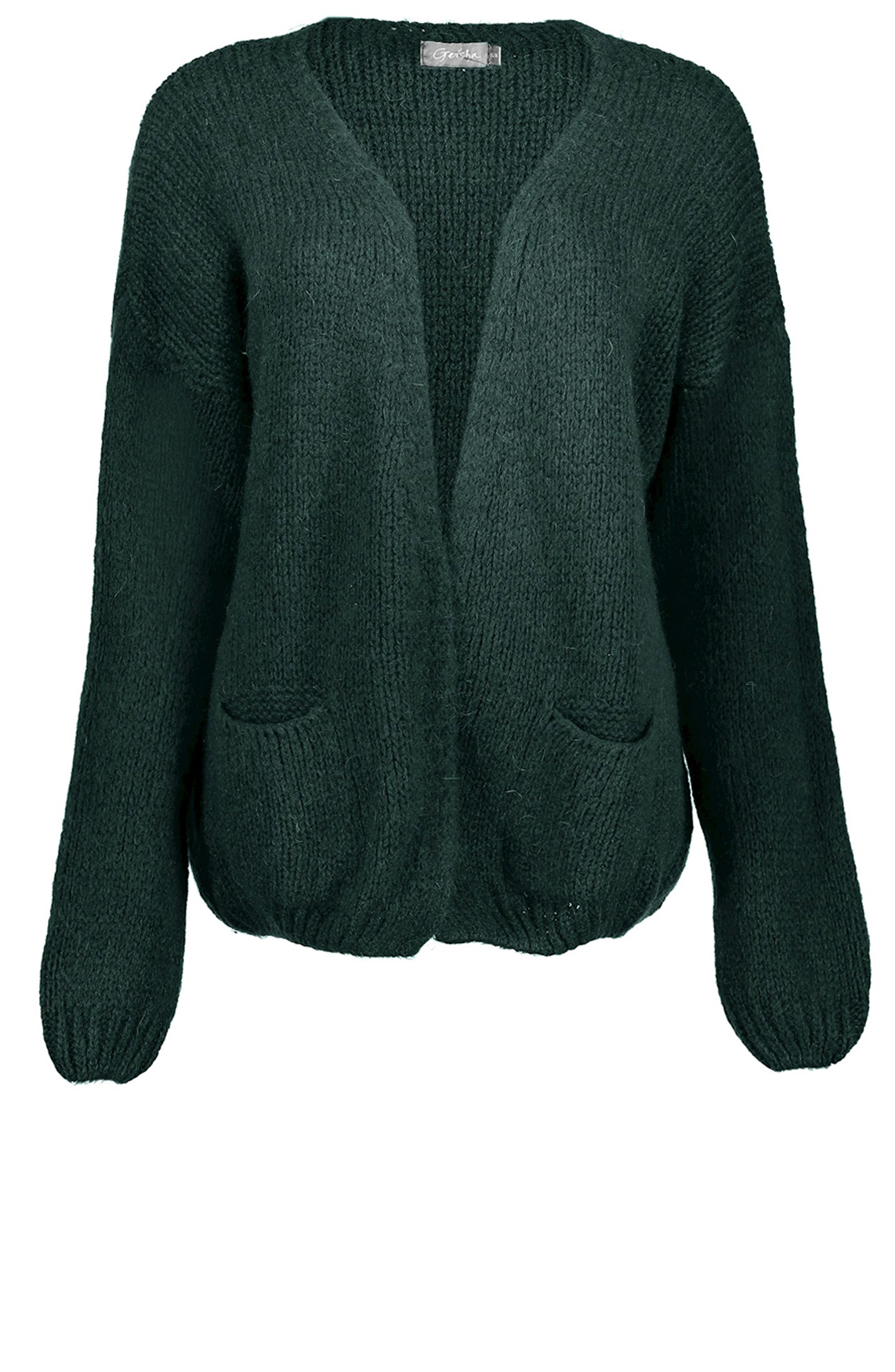 Geisha Dames Vest van wolmix groen