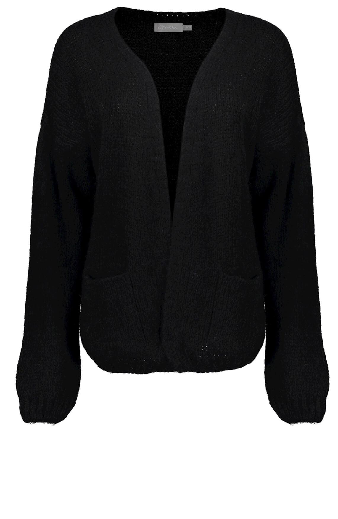 Geisha Dames Vest van wolmix zwart