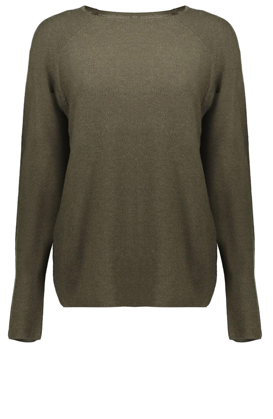 Geisha Dames Pullover met structuur groen