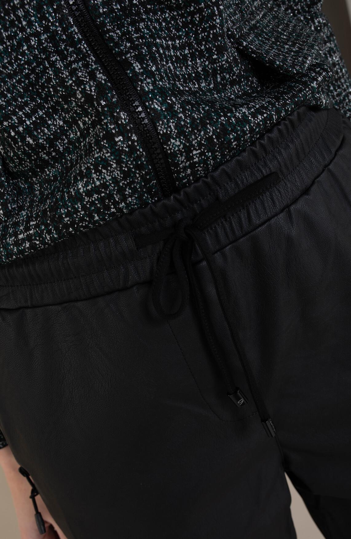 Geisha Dames Jogpants leather look broek