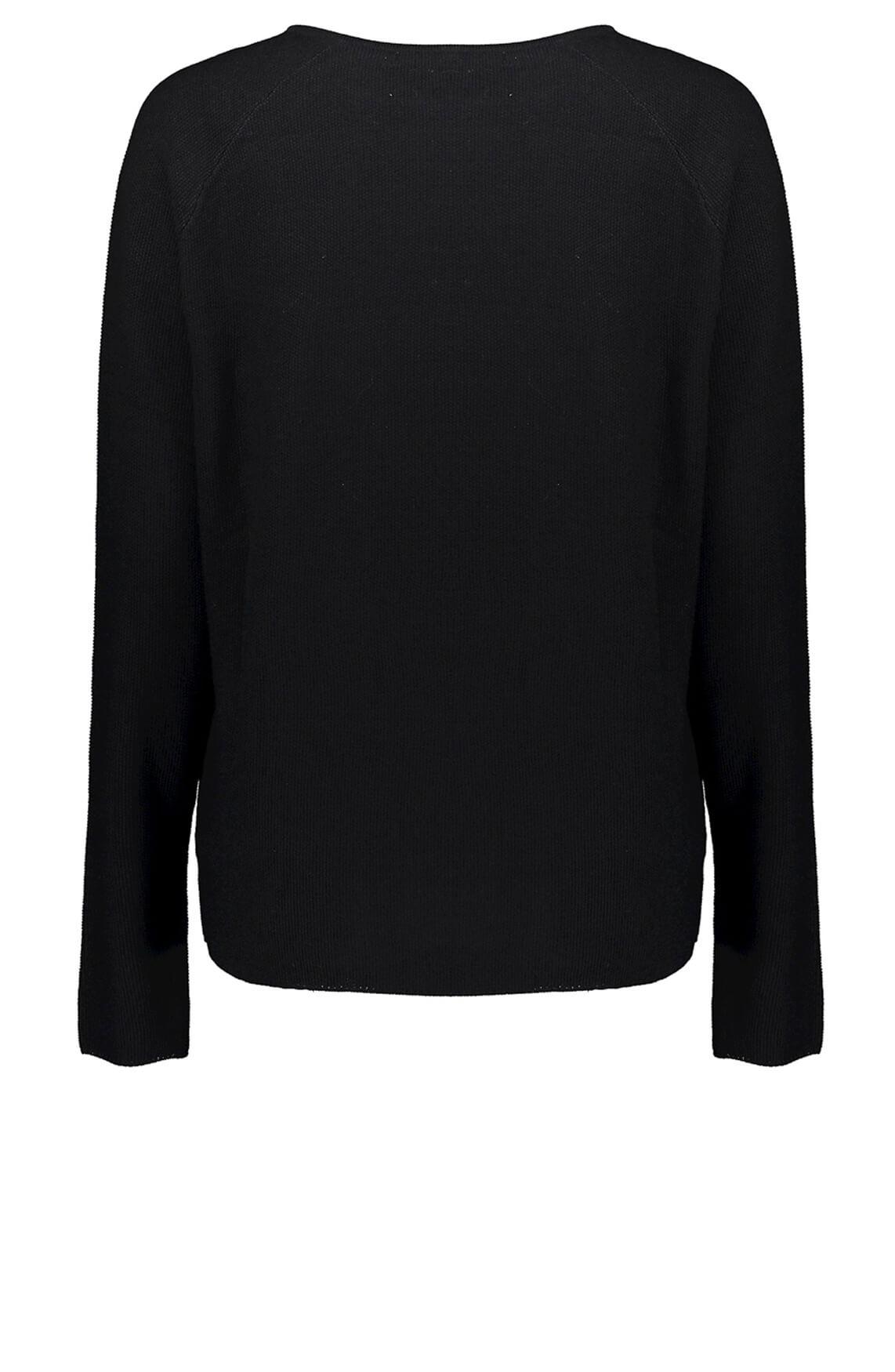 Geisha Dames Pullover met structuur zwart