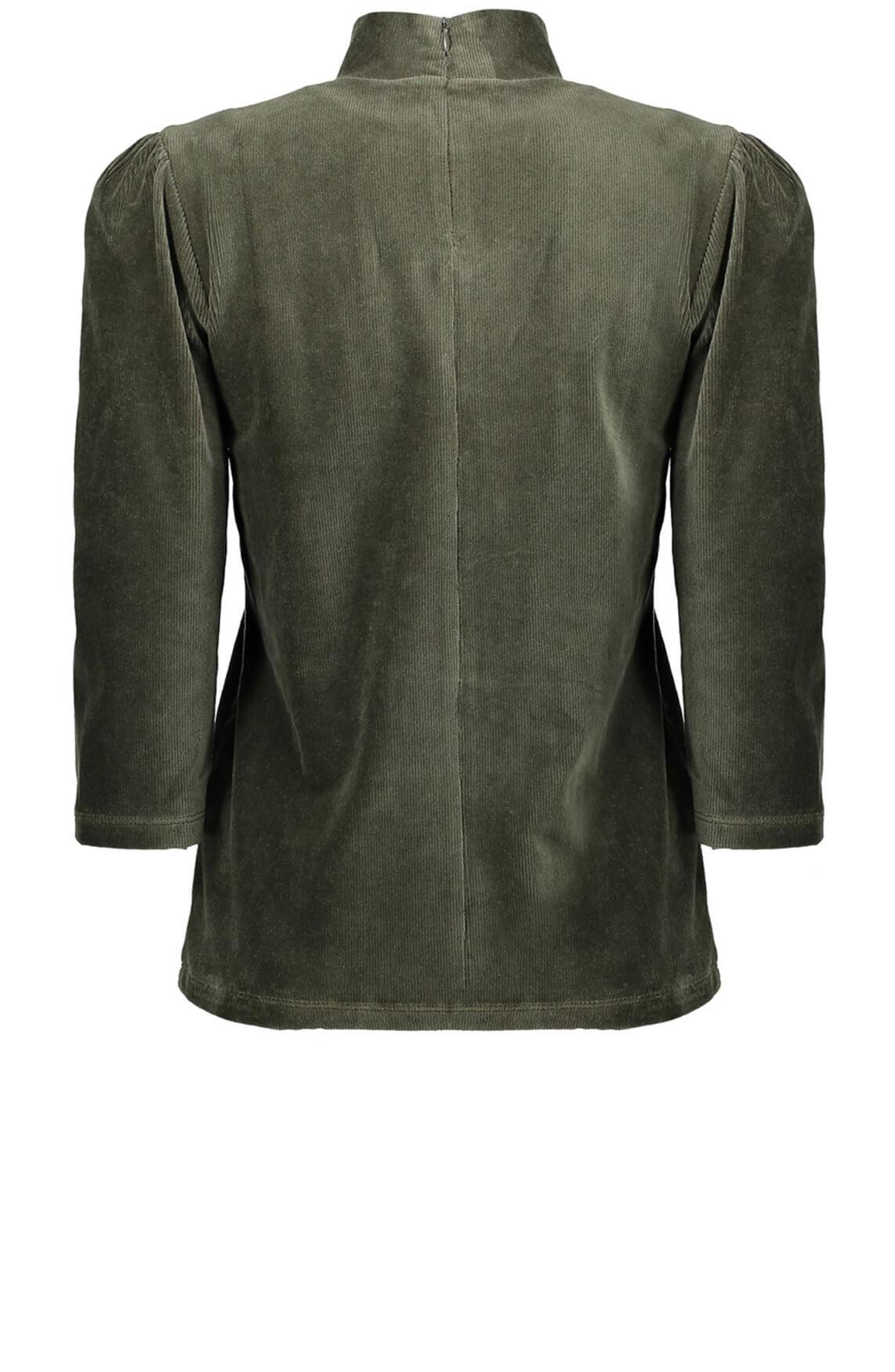 Geisha Dames Ribcord shirt groen