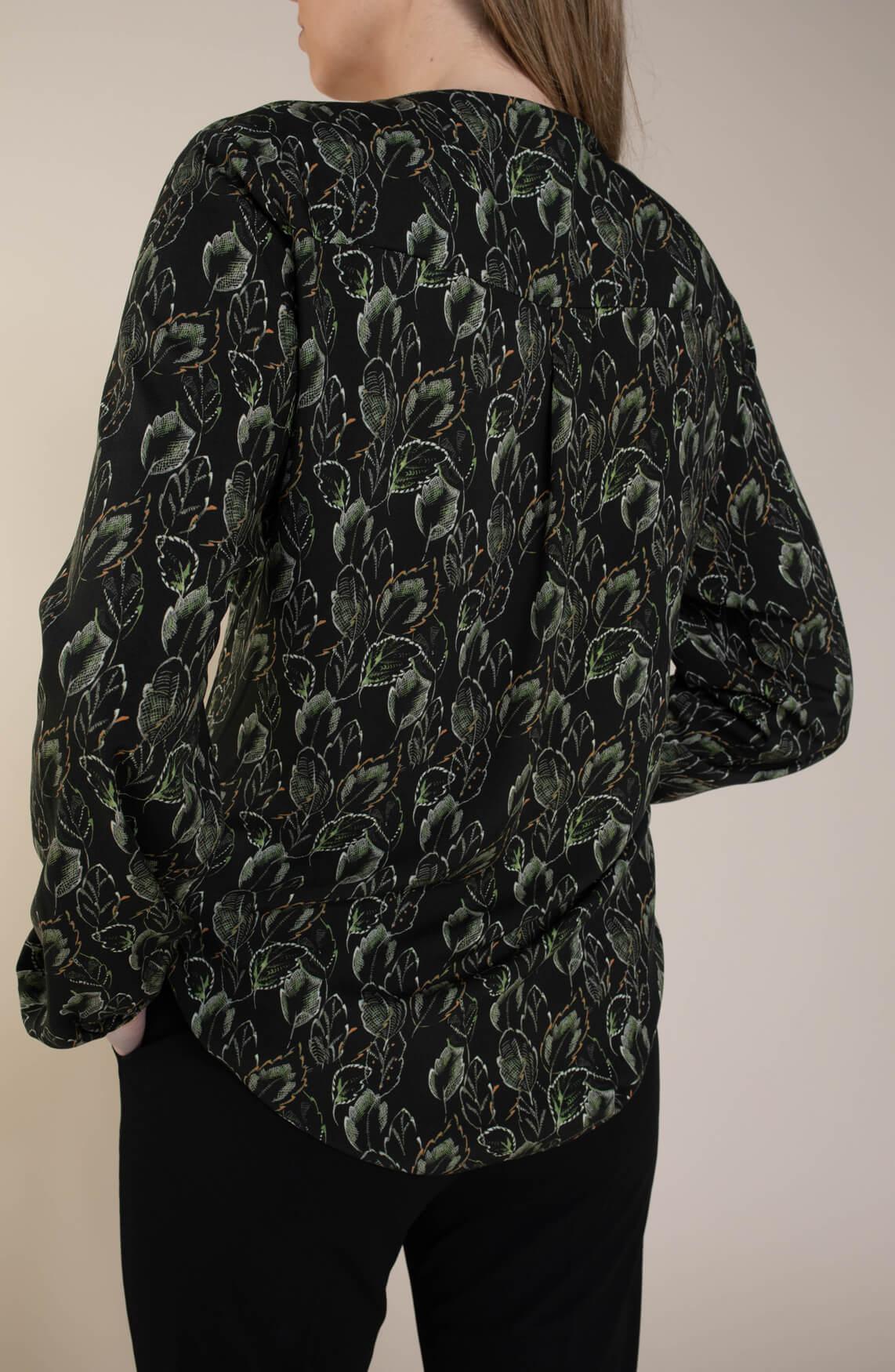 Geisha Dames Blouse met print groen