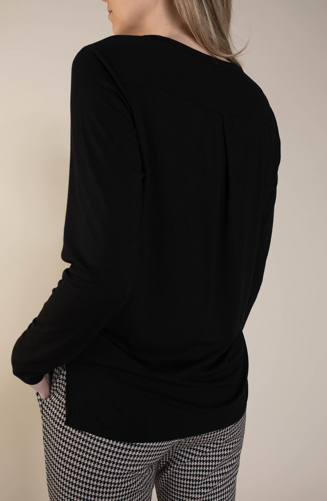 Geisha Dames Jogpantalon met print zwart