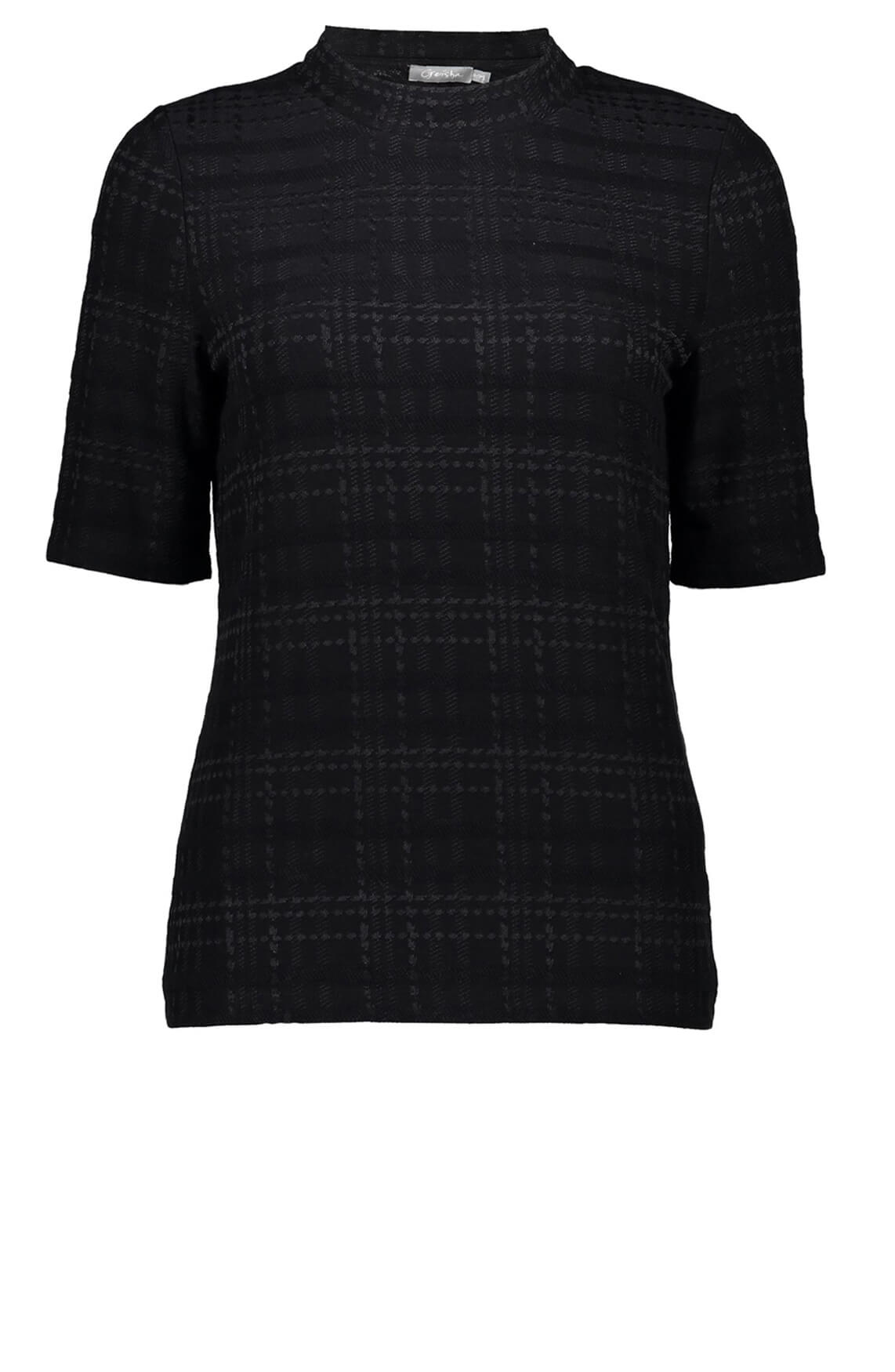 Geisha Dames Geruit shirt zwart
