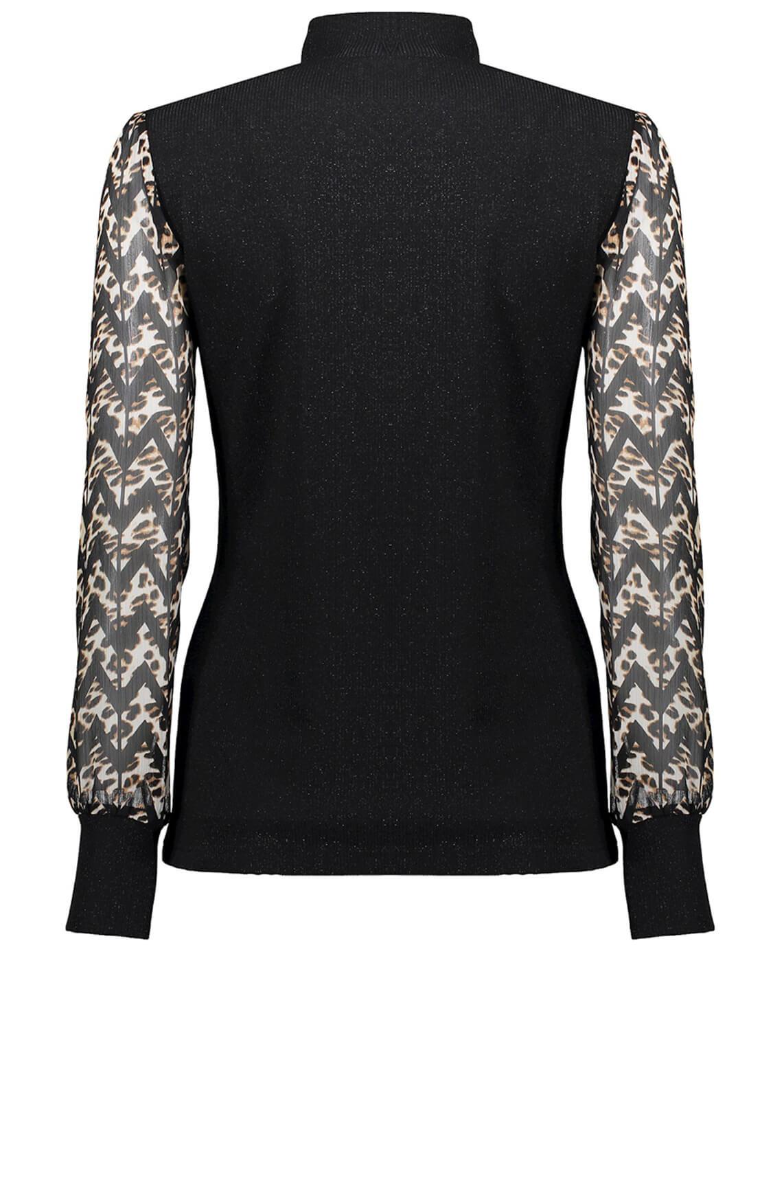Geisha Dames Pullover met zigzag zwart