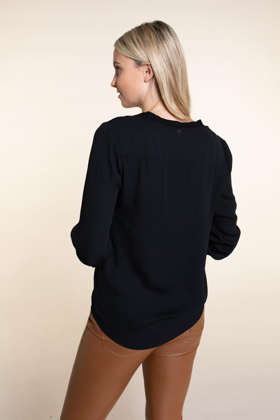 Kocca Dames Link blouse zwart