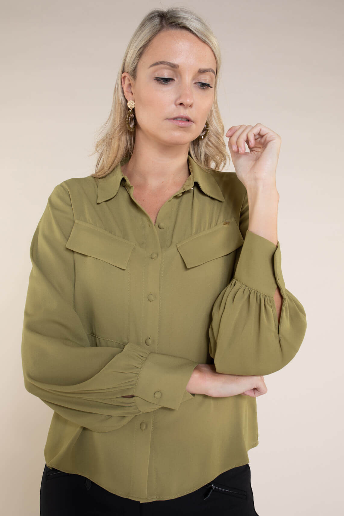 Kocca Dames Lumber blouse groen