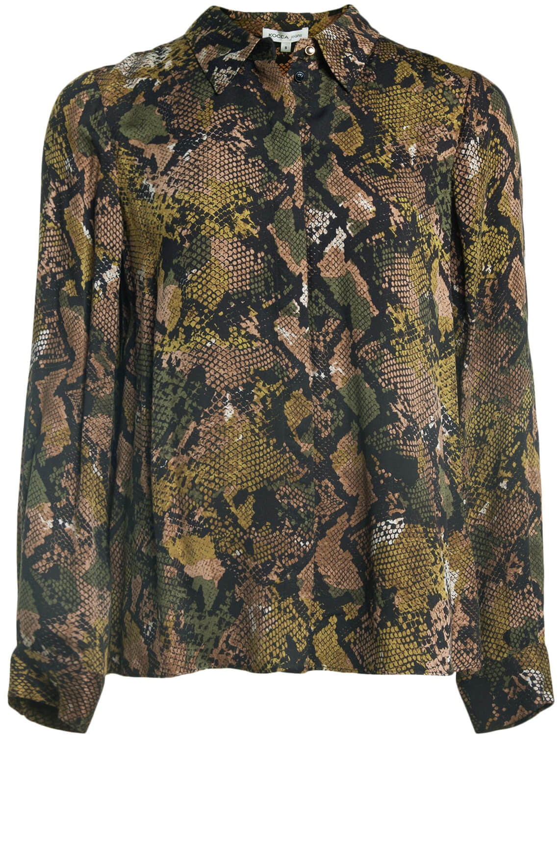 Kocca Dames Koffil reptiel blouse groen