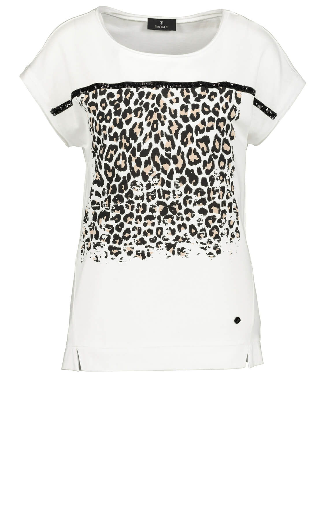 Monari Dames Shirt met pailletten wit