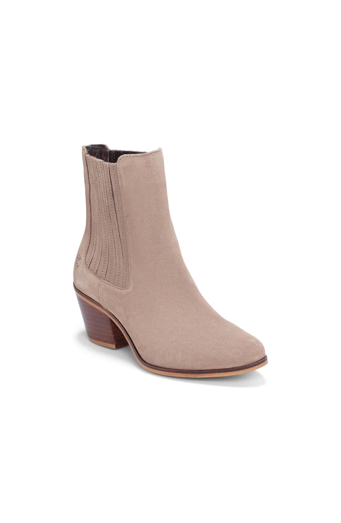 Only a Shoe Dames Suède laars Bruin