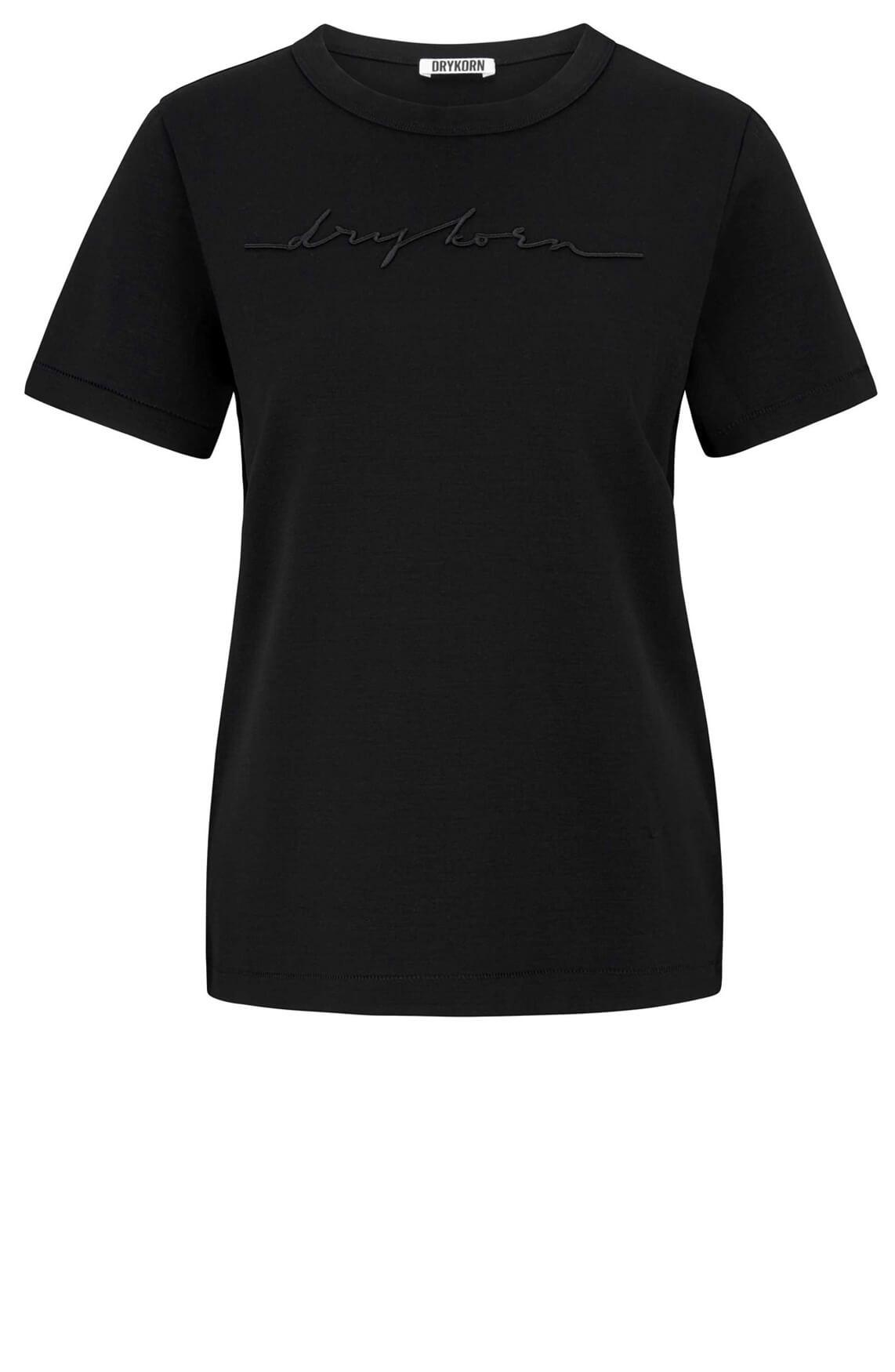 Drykorn Dames Anisia embroidery shirt zwart