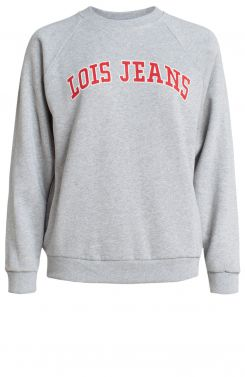 Lois Dames Varsity sweater Grijs | Anna van Toor