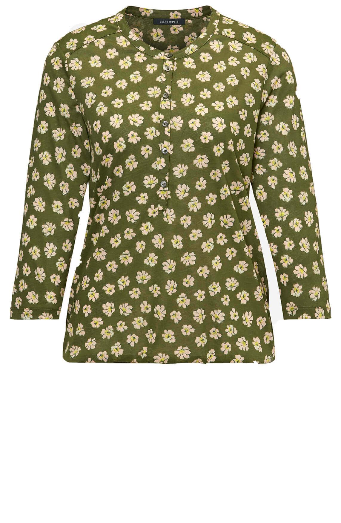 Marc O'Polo Dames Shirt met bloemen groen