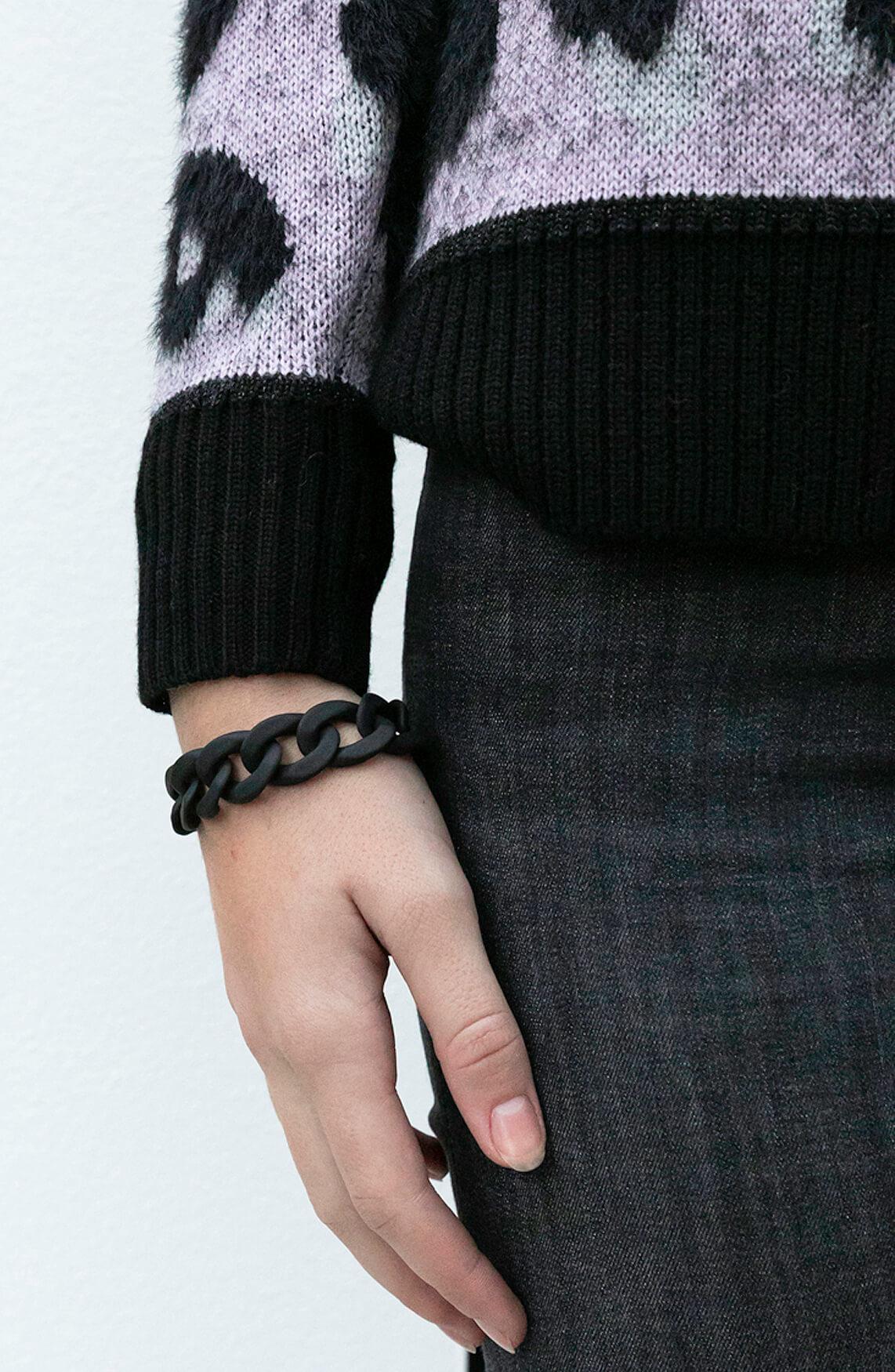 Lins. Amsterdam Dames Cindy armband zwart