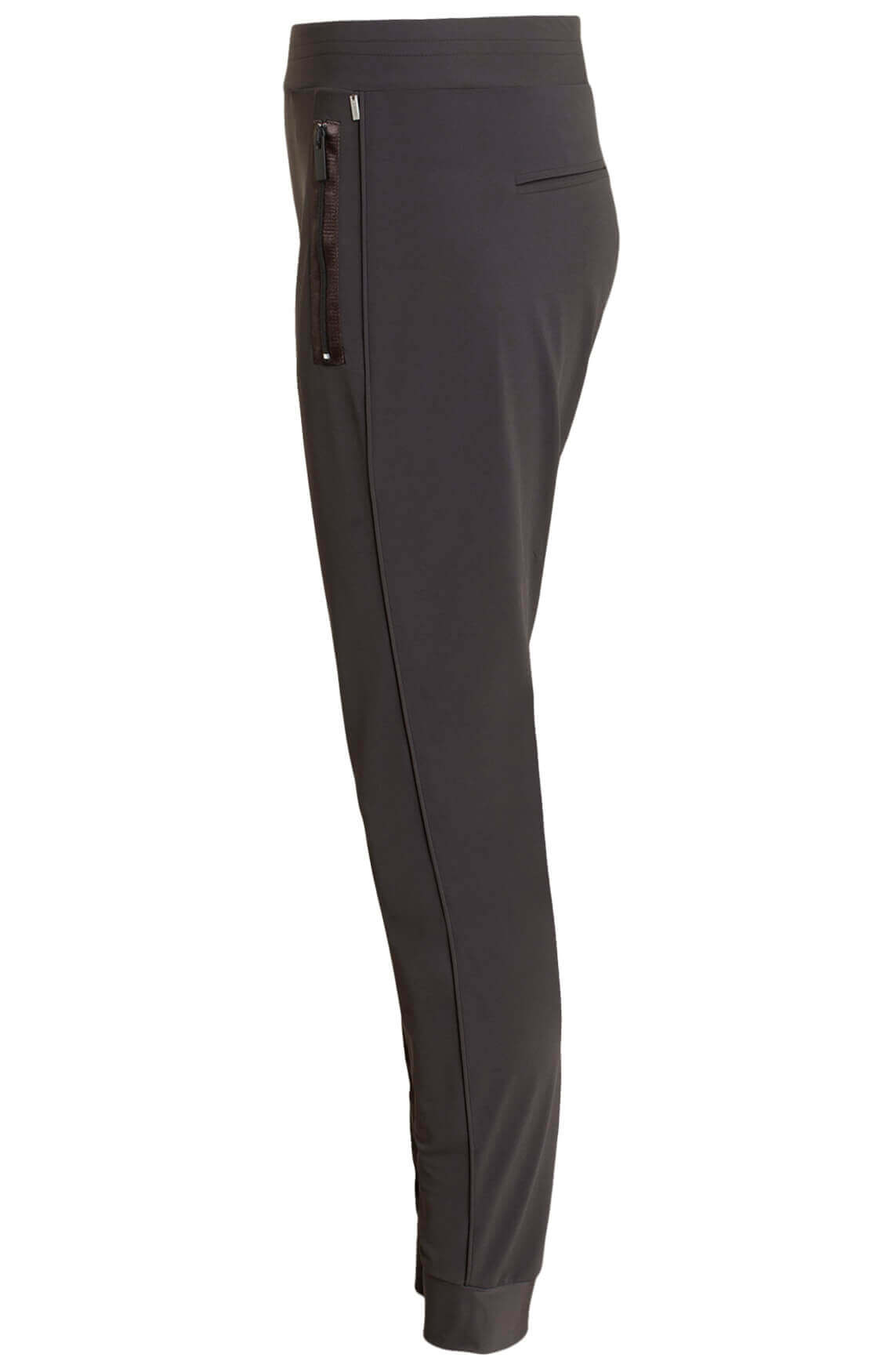 Anna Dames Jersey sensitive jogpantalon Bruin