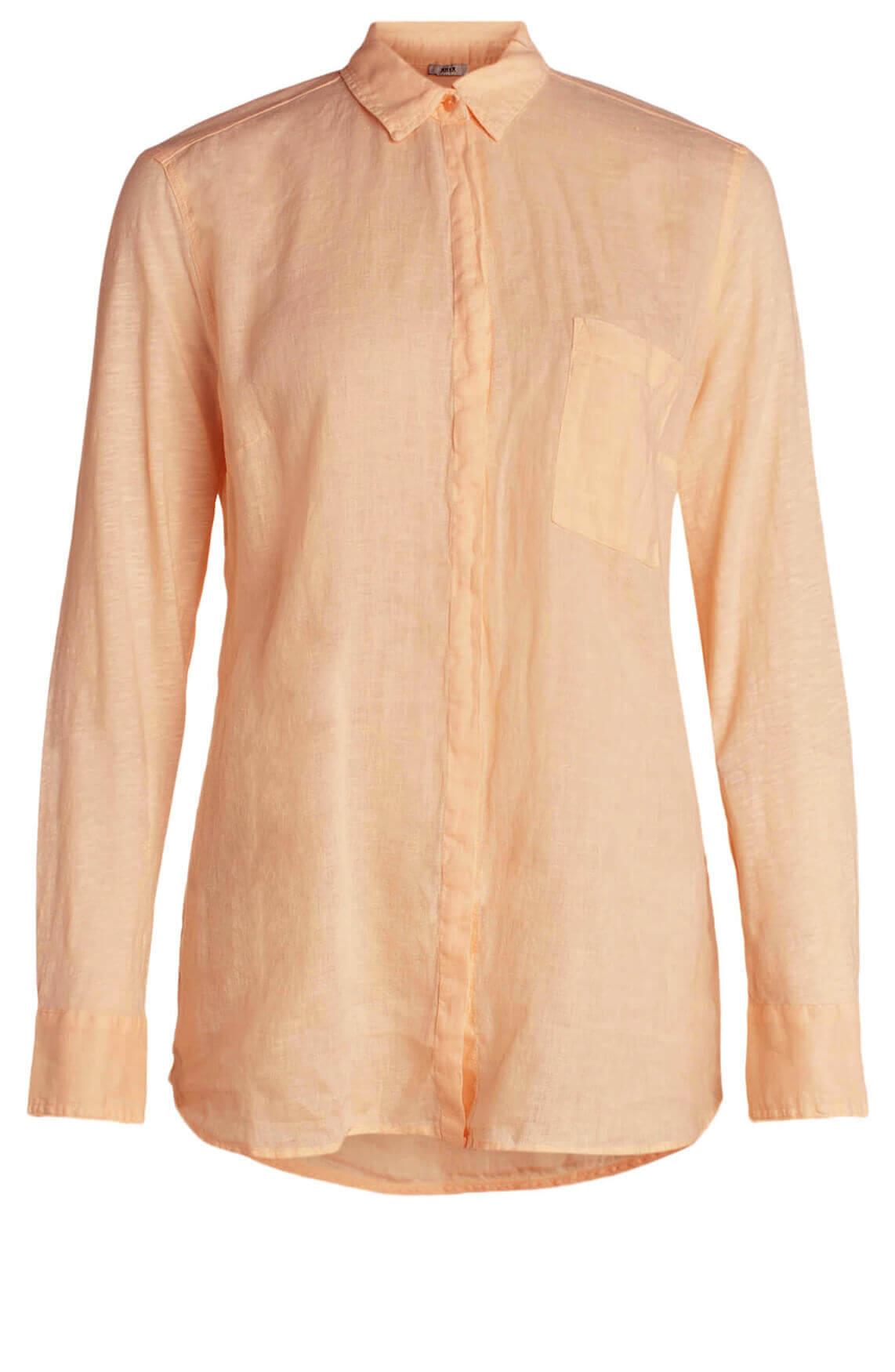 Anna Dames Materiaalmix blouse roze