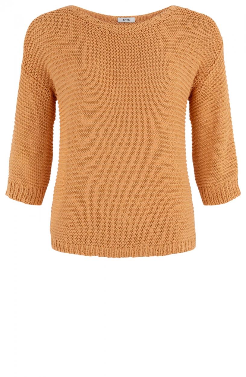 Anna Dames Trui in tricotsteek Oranje