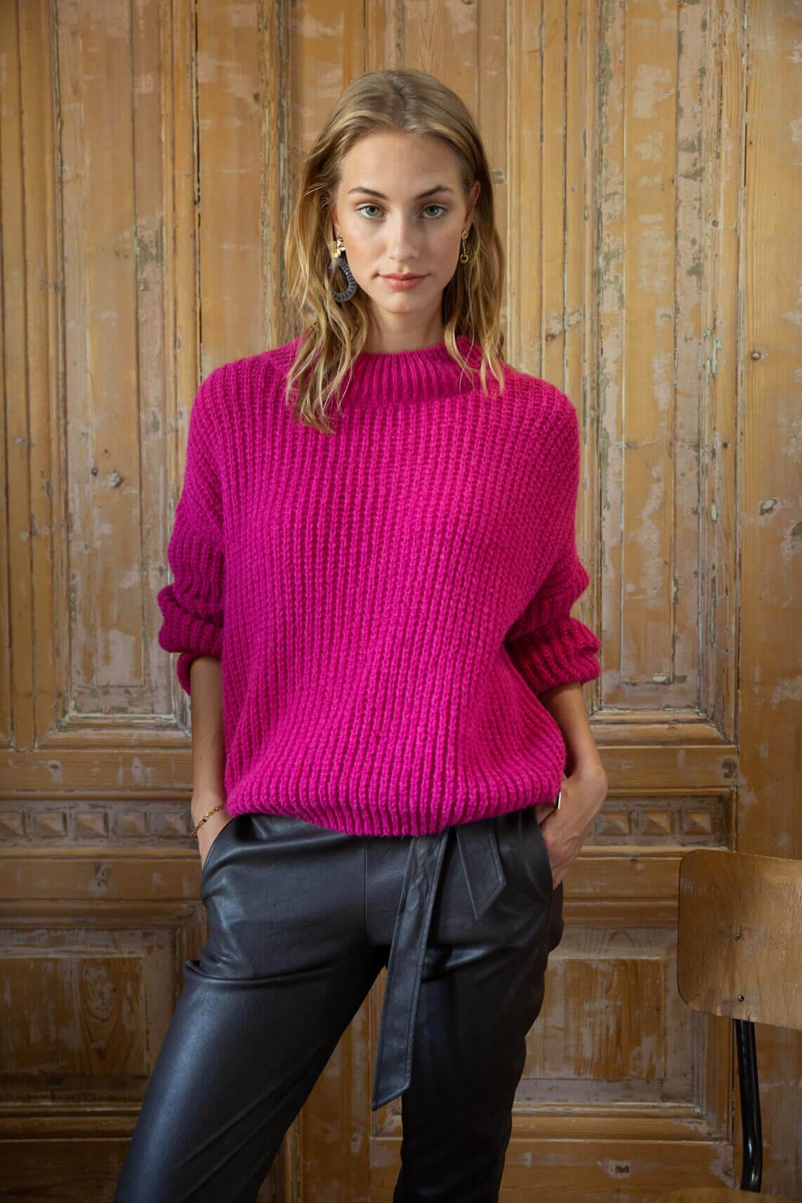 Anna Dames Gebreide pull roze