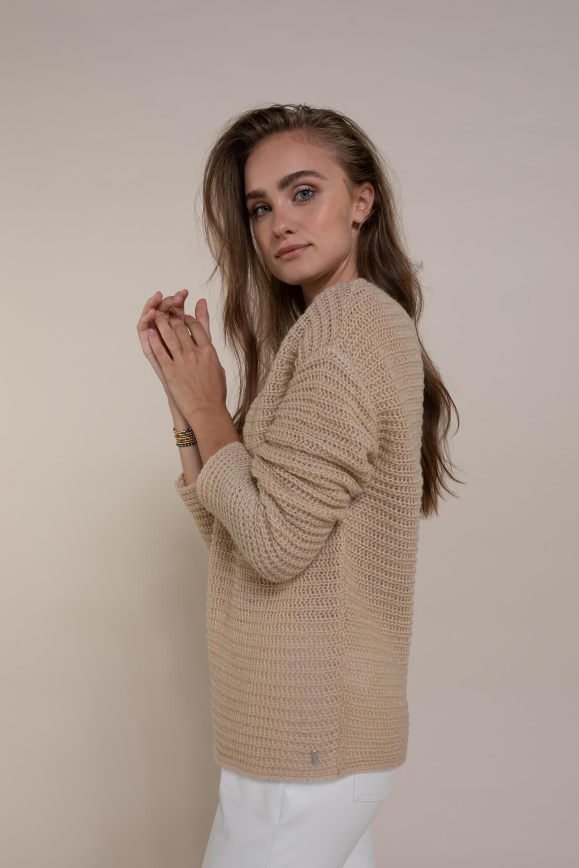 Anna Dames Losgebreide pullover Bruin