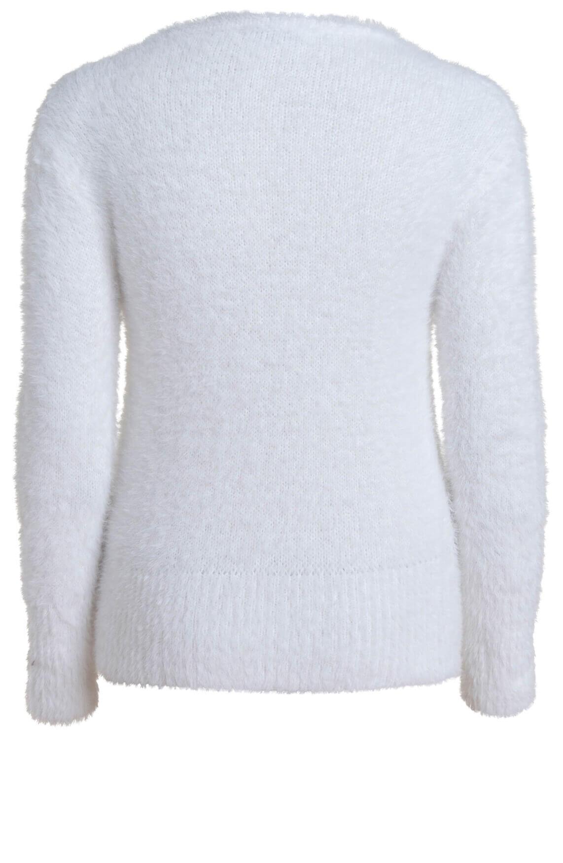 Anna Dames Zachte pullover wit