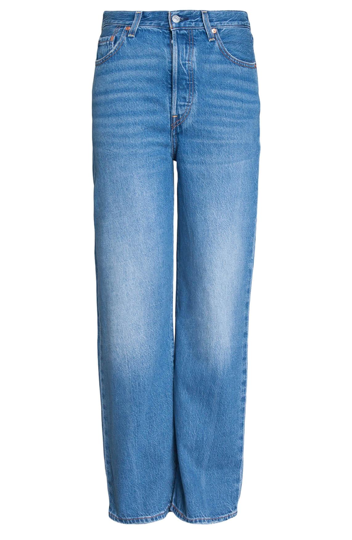 Levi s Dames Ribcage straight jeans Blauw