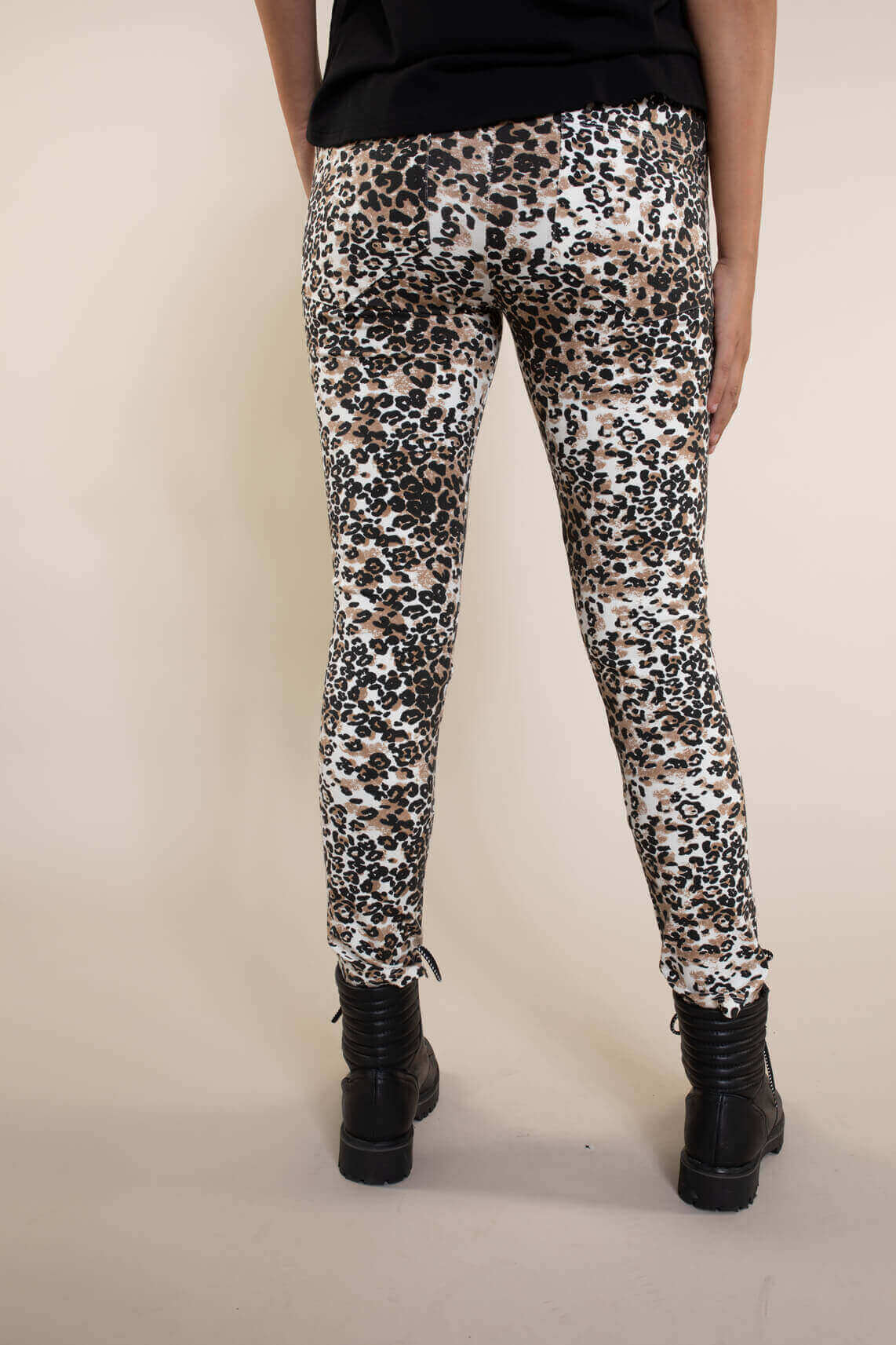 10 Days Dames Leopard jogger Bruin