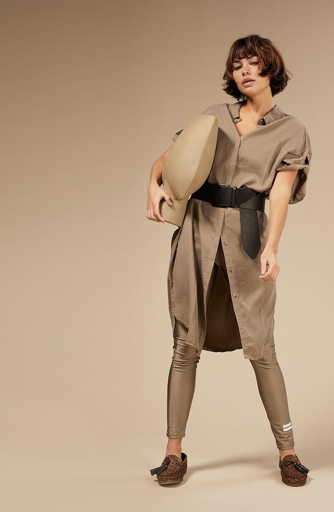 10 Days Dames Shiny legging Bruin