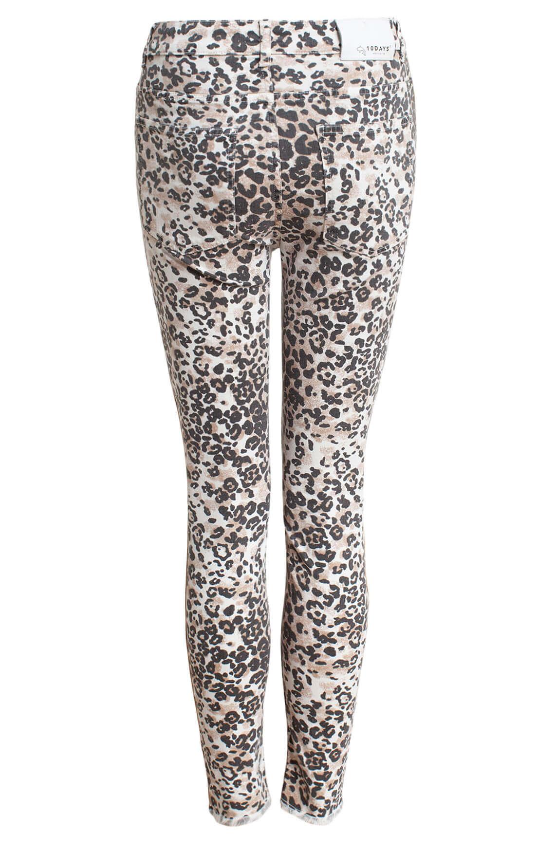 10 Days Dames Leopard jeans Bruin