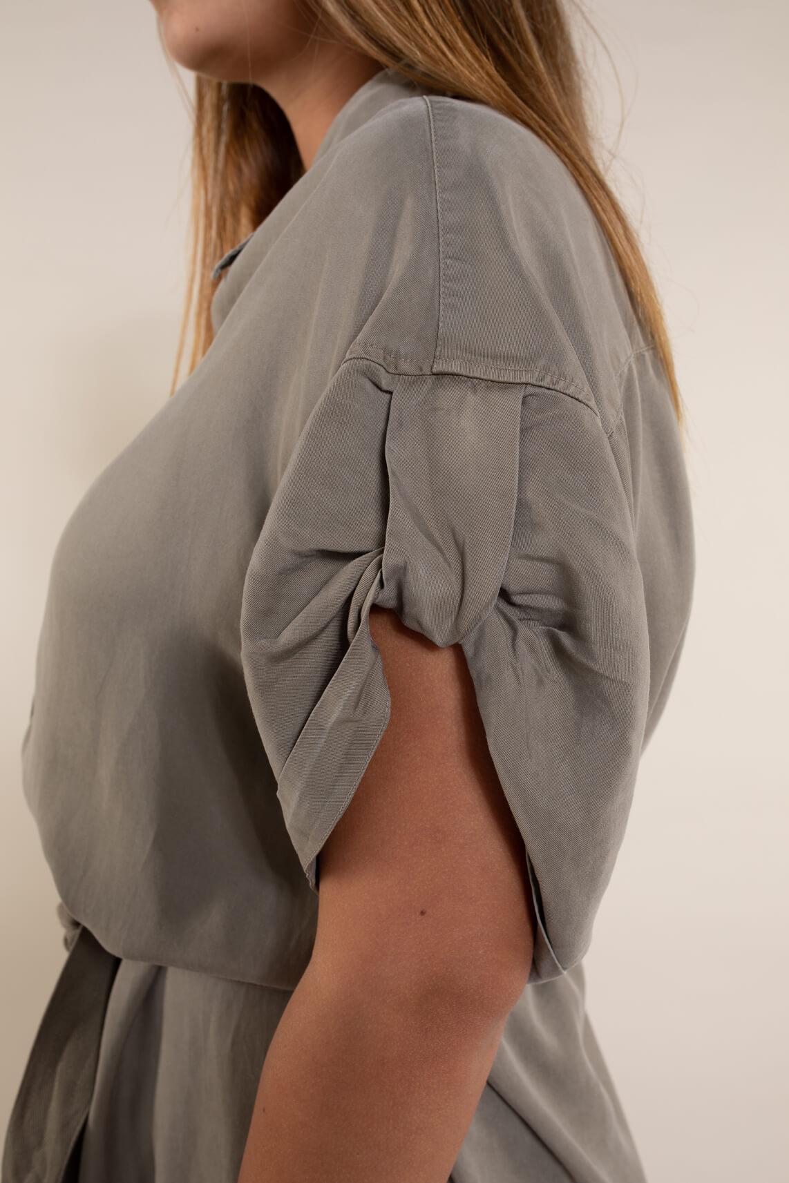 10 Days Dames Midi blousejurk Bruin