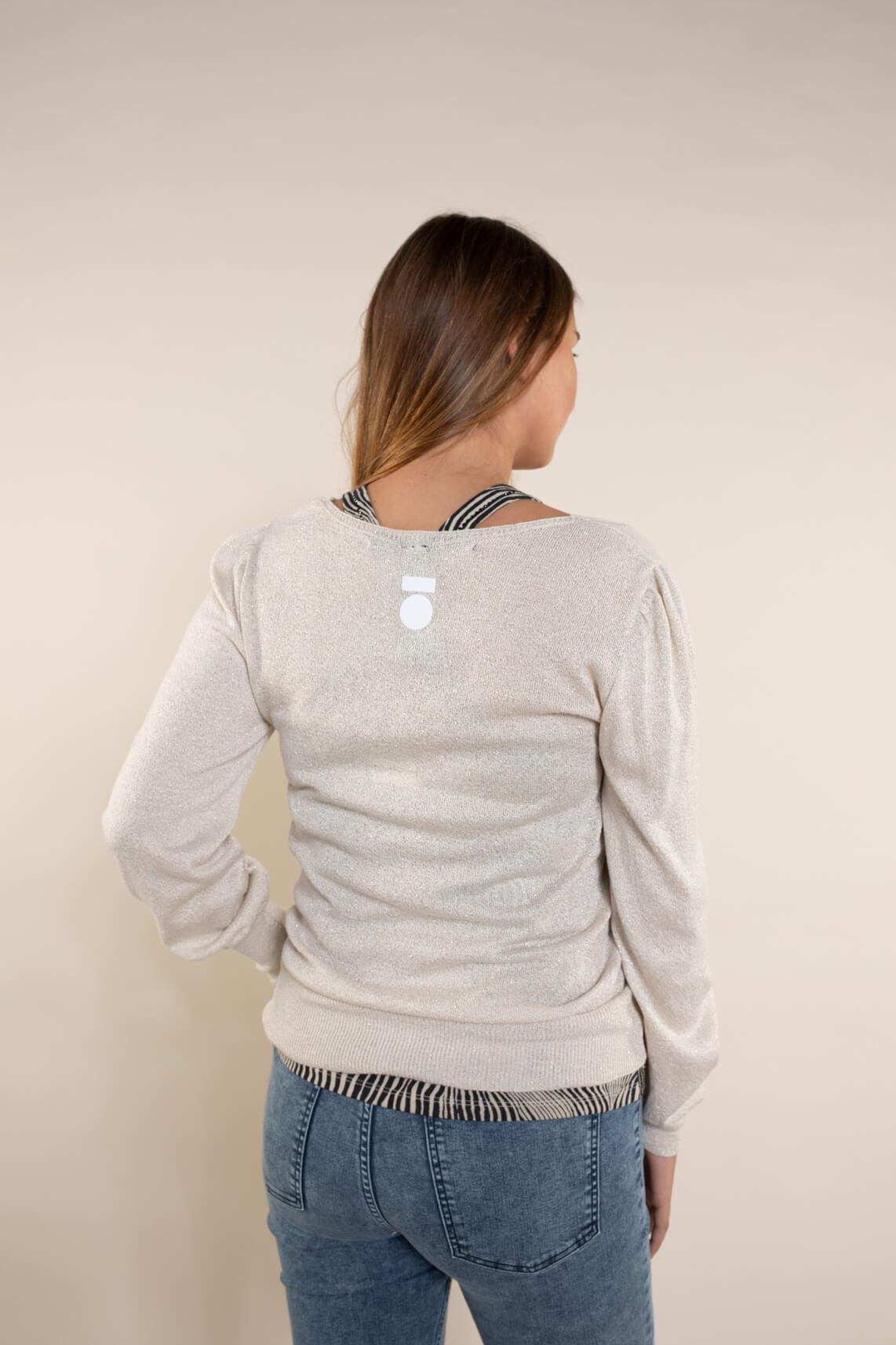 10 Days Dames Sparkling sweater Bruin