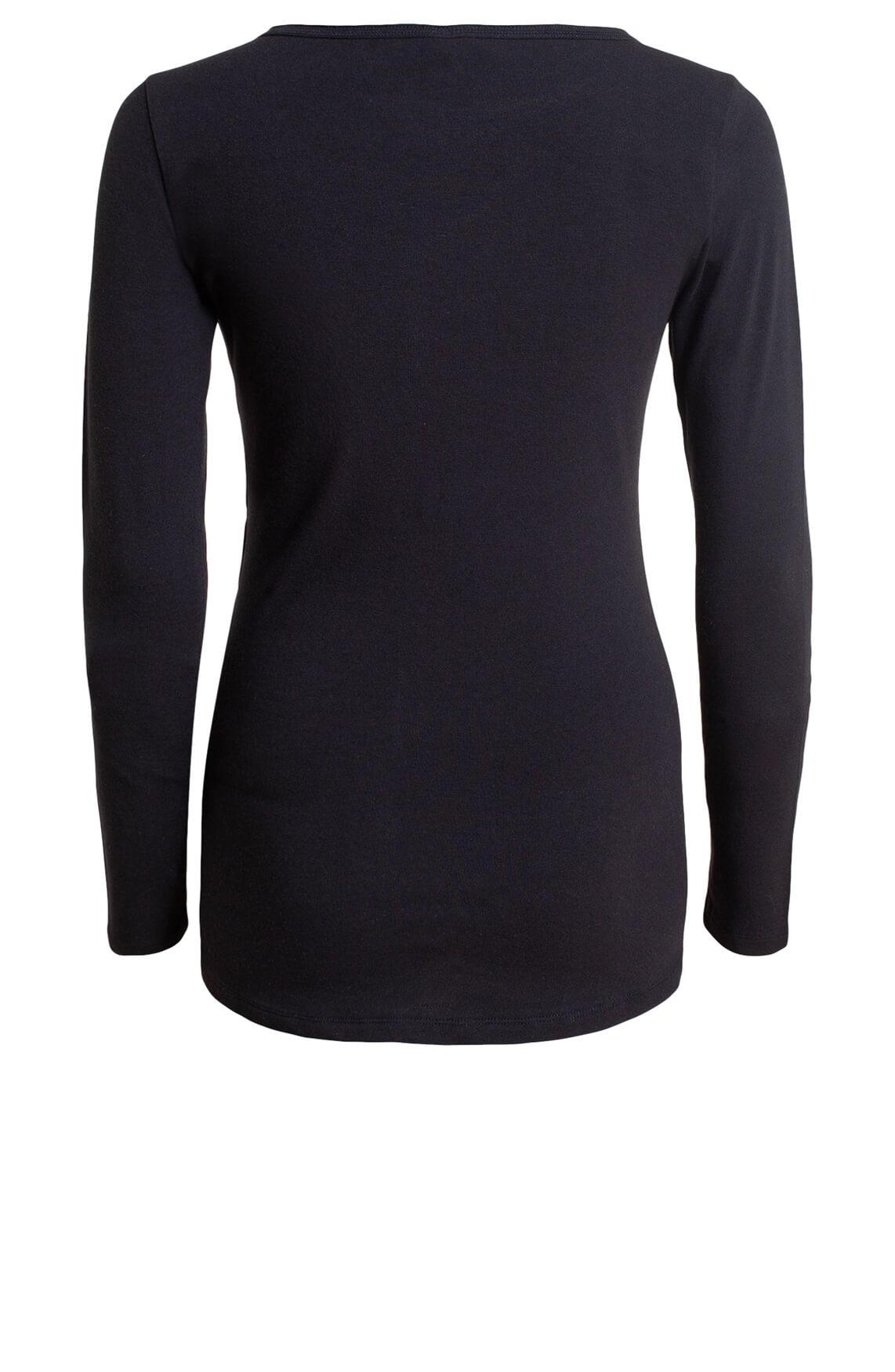 10 Days Dames Slim-fit shirt zwart