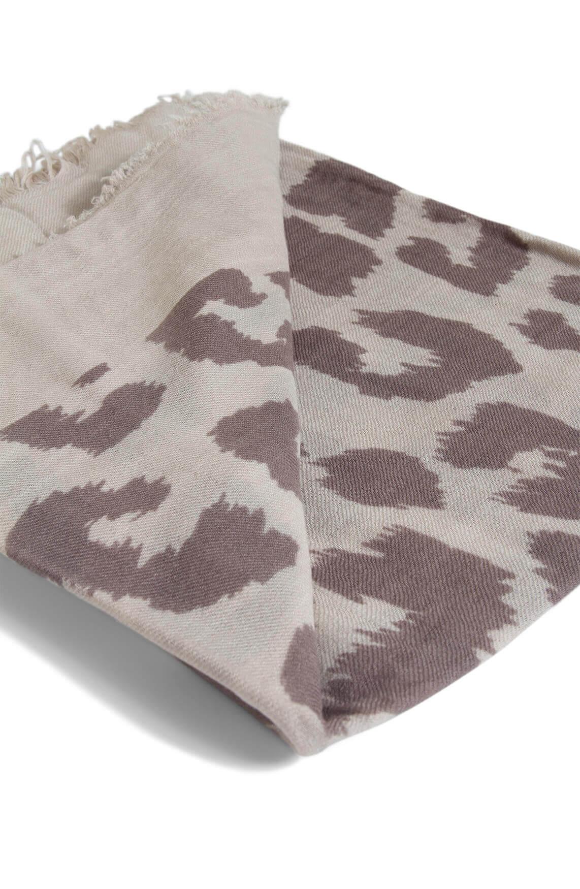10 Days Dames Leopard shawl Ecru