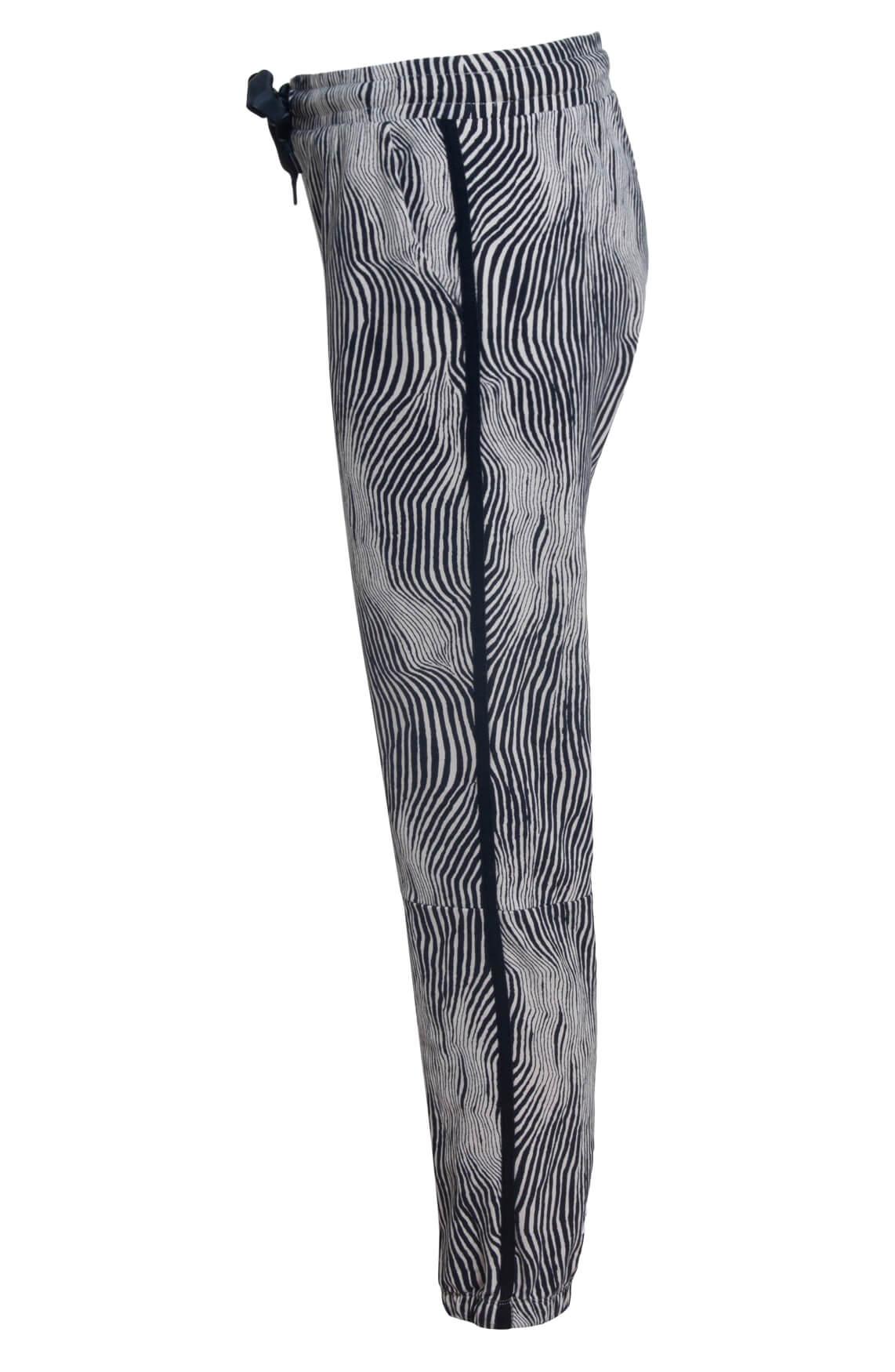 10 Days Dames Zebra jogger zwart