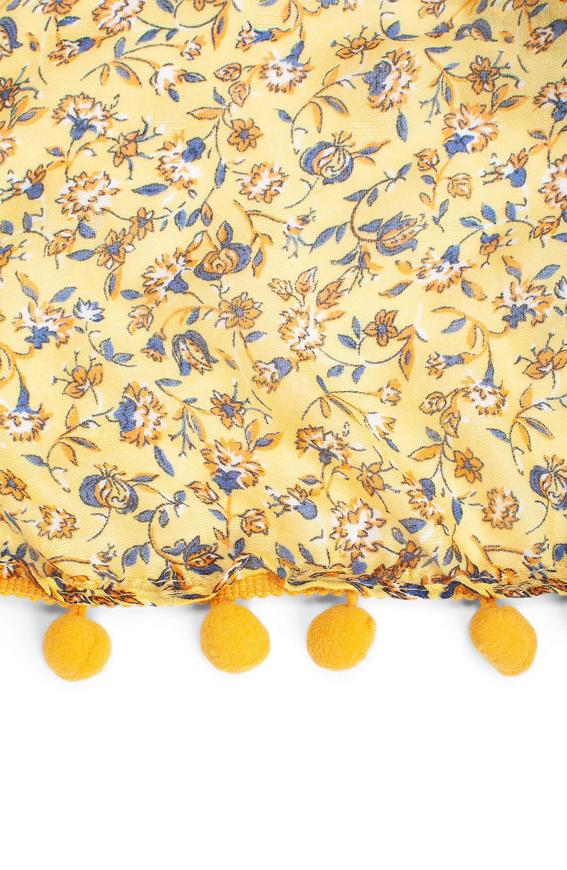Zo Dames Patchwork shawl geel