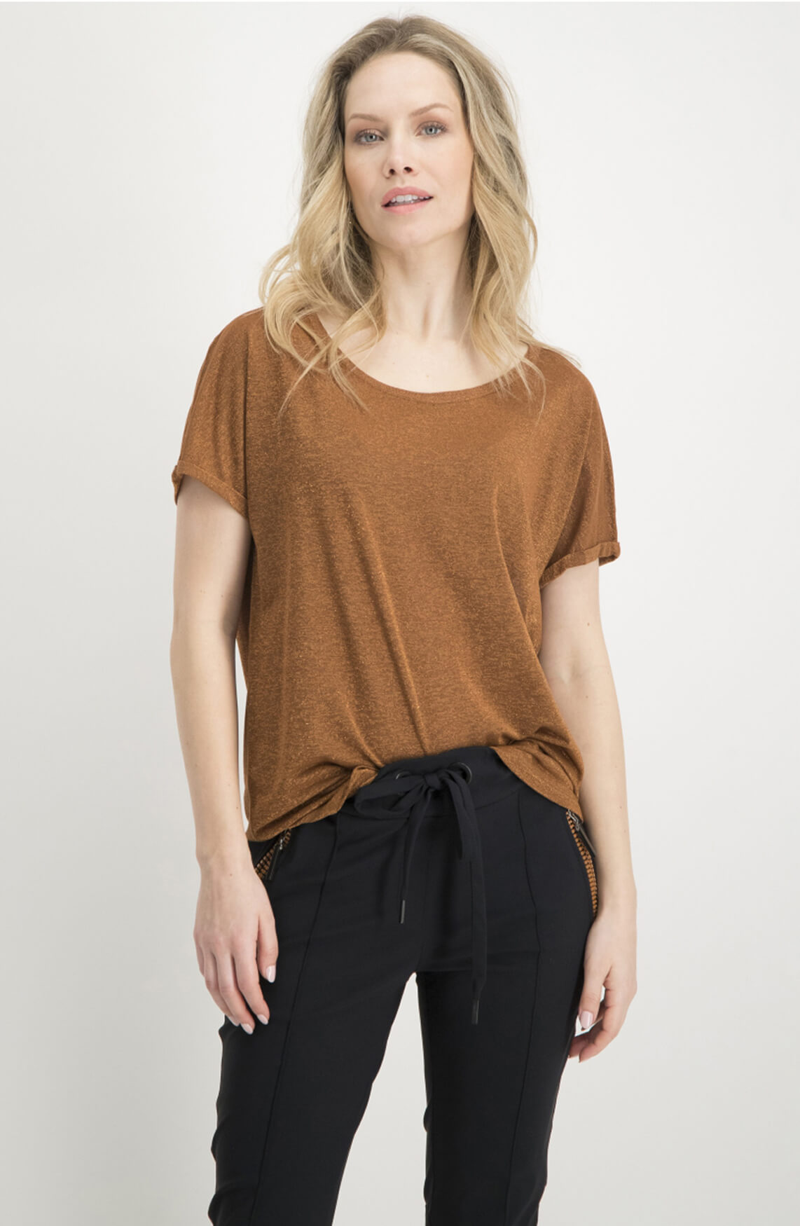 Jane Lushka Dames Hope shirt Bruin