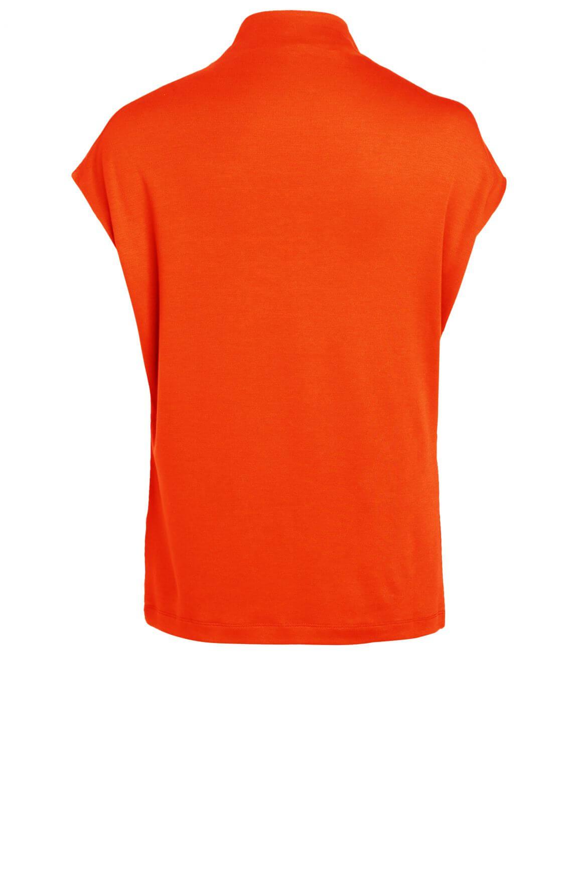 Anna Dames Shirt met col Oranje