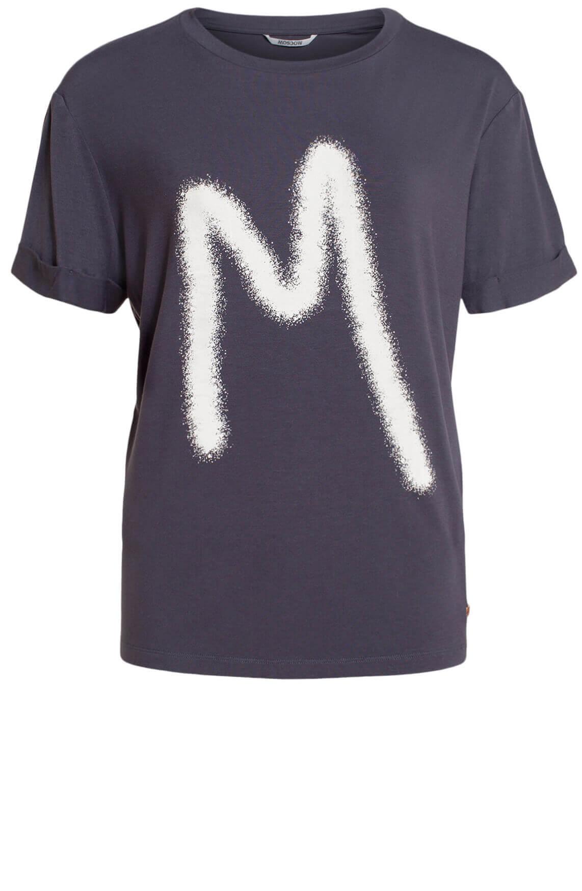 Moscow Dames Rufina logo shirt Grijs