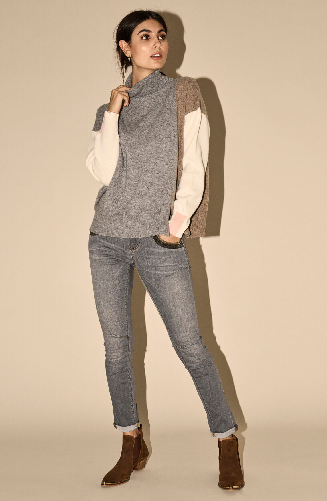 Mos Mosh Dames Naomi jeans Grijs